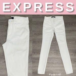 NEW Express White High Rise Stretch+ Legging; 4R